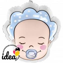 Шар с гелием  Фольгированная фигура младенец мальчик