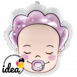 Шар с гелием Фольгированная фигура младенец девочка