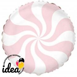 Шар с гелием конфета пастель лососевая 45см