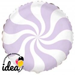 Шар с гелием конфета пастель лиловая 45см