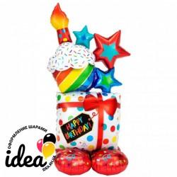 Стоячий шар Happy Birthday (под воздух)