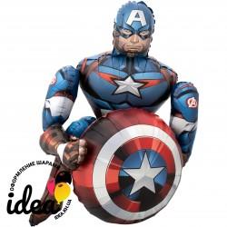 Ходячий шар с гелием Капитан Америка