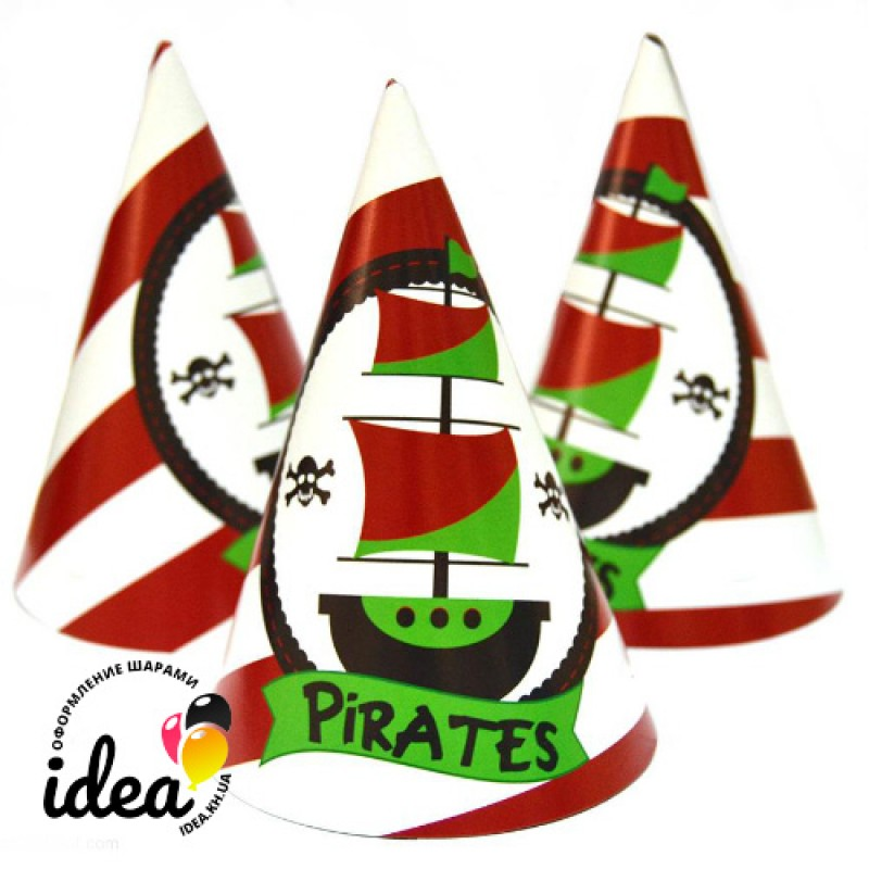 Колпачек Пираты 15см (3шт)