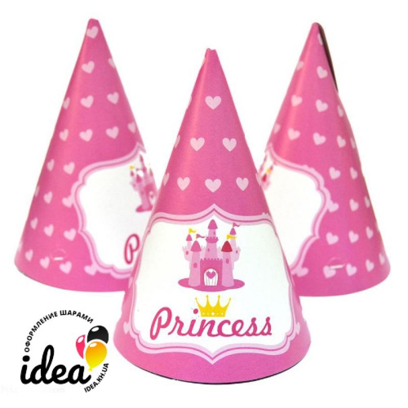 Колпачек Принцесса сердечки 15см (3шт)