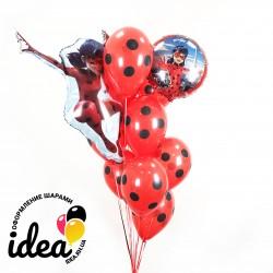 Букет воздушных шаров Леди Баг