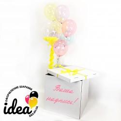 Коробка шаров Хрустальный сюрприз