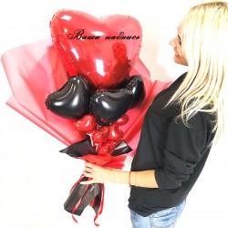 Крафтовый букет шаров Сердечный приступ