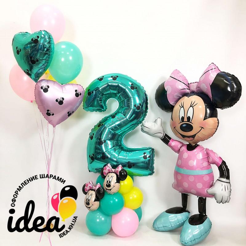Набор шаров С Днем Рождения, Минни!