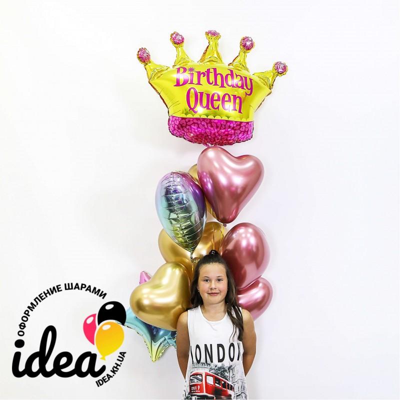 Букет гелиевых шаров Корона королевы