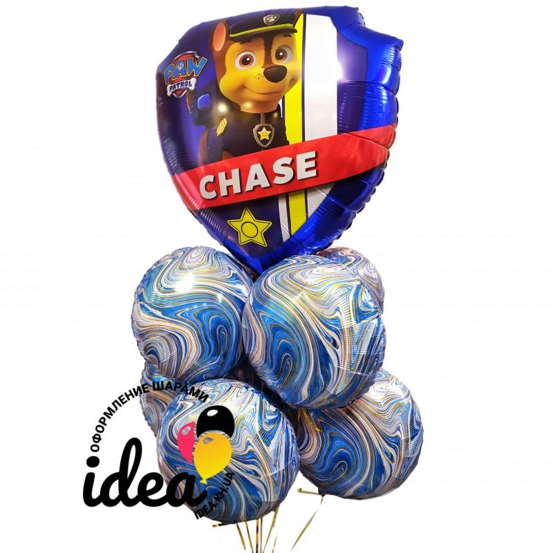 Букет гелиевых шаров Чейз и Маршал