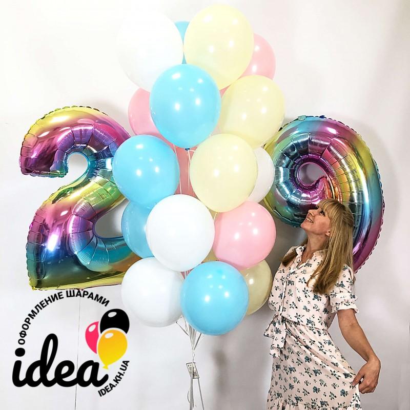 Набор шаров Светлый День Рождения