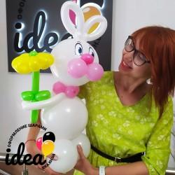 Милый зайчик из шаров