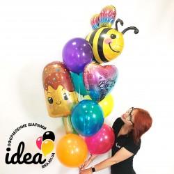 Набор гелиевых шаров Веселая пчелка