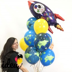Букет гелиевых шаров Космический ДР