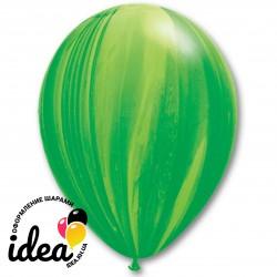 Шар с гелием, с рис супер агат зеленый, обработан HiFloat (1шт)