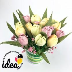 Горшок «Желтые тюльпаны»