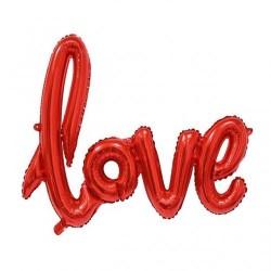 Гирлянда надувная Love красная 72см воздух