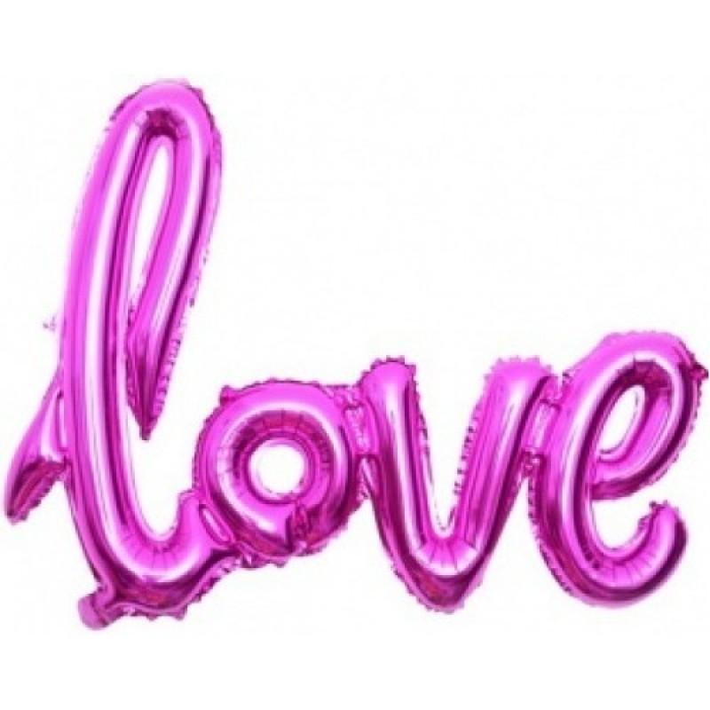 Гирлянда надувная Love розовая 72см воздух