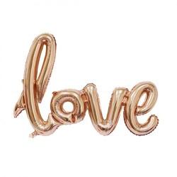 Гирлянда надувная Love розовое-золото 72см воздух