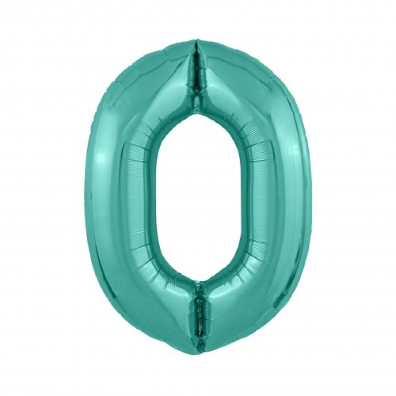 Шар «0» с гелием зеленый 100см