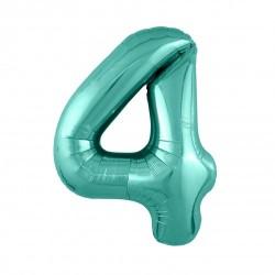 Шар «4» с гелием зеленый 100см
