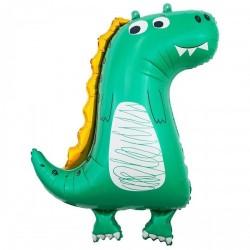 Шар с гелием Динозаврик зеленый 86см