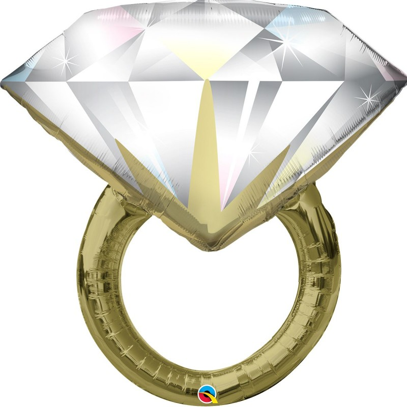 Шар с гелием Свадебное кольцо 76см