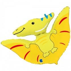 Шар с гелием Фигура птеродактиль динозавр 86см