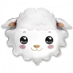 Шар с гелием  Фигура голова овечки 75см