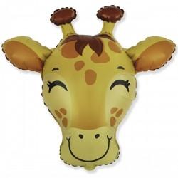 Шар с гелием Фигура голова жираф 78см