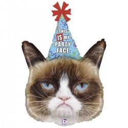 Шар с гелием Сердитая кошка Grumpy cat 73 см