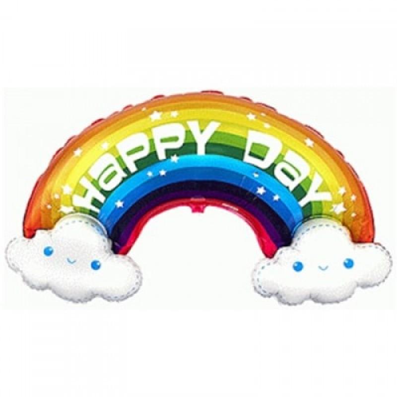 Шар с гелием Фигура Радуга Happy Day 110см
