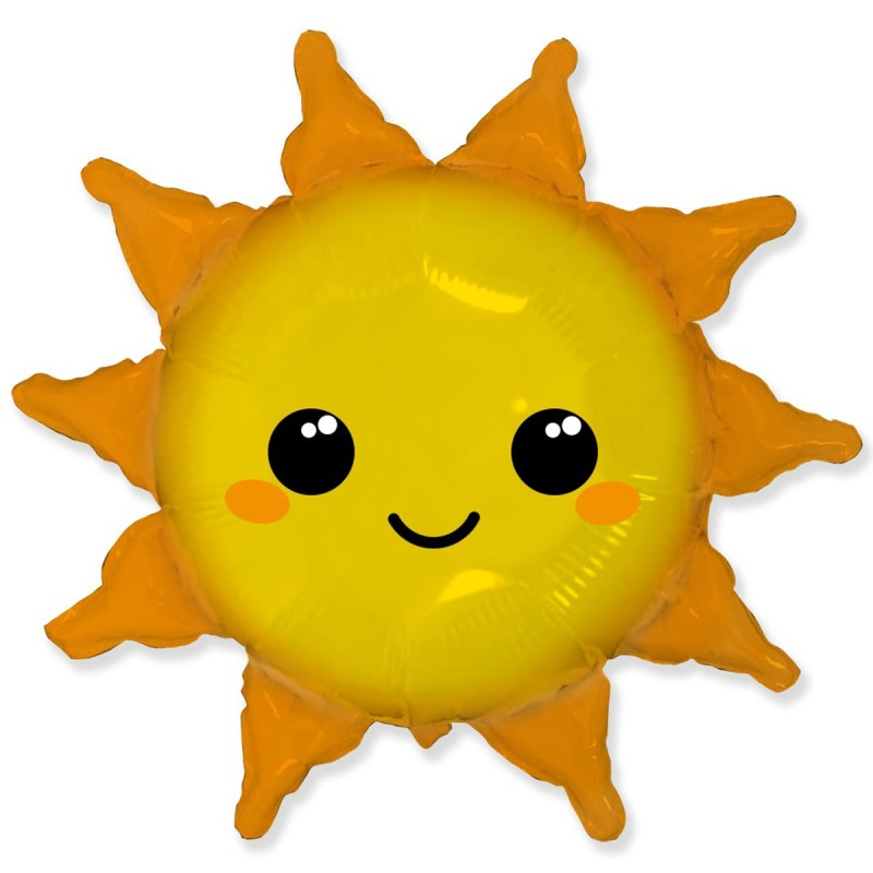 Шар с гелием Солнце  82 см