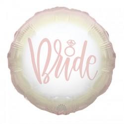 Шар с гелием круг Bride 45см