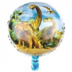 Круг с гелием Динозавры 45см