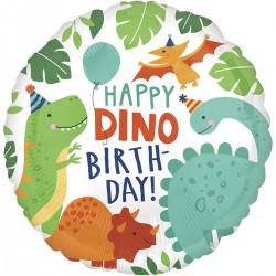 Круг с гелием НВ Вечеринка динозавров 45см