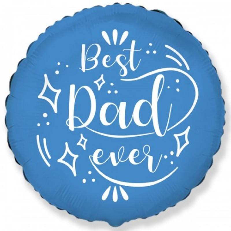 Шар с гелием Круг Best Dad ever 45см