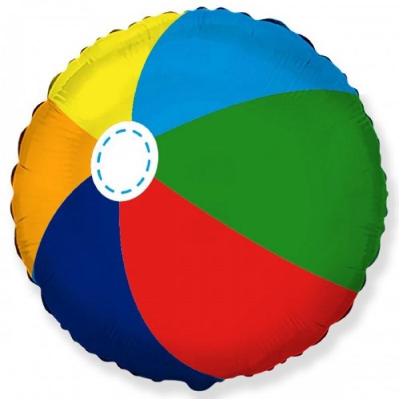 Шар с гелием Круг Пляжный мяч 45см