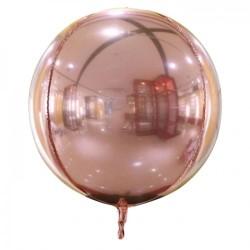 Шар с гелием 3d сфера б/рис (56см) розовое золото