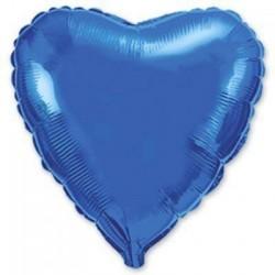 Шар с гелием СЕРДЦЕ синее 80см