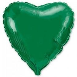 Шар с гелием СЕРДЦЕ зеленое 80см