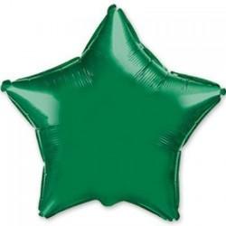 Шар с гелием ЗВЕЗДА зеленая 80см