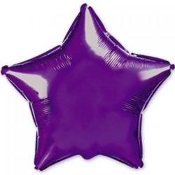 Шар с гелием ЗВЕЗДА фиолетовая 80см