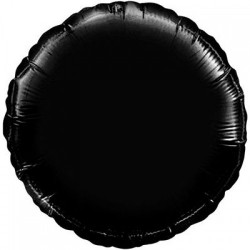 Шар с гелием КРУГ пастель черный 45см