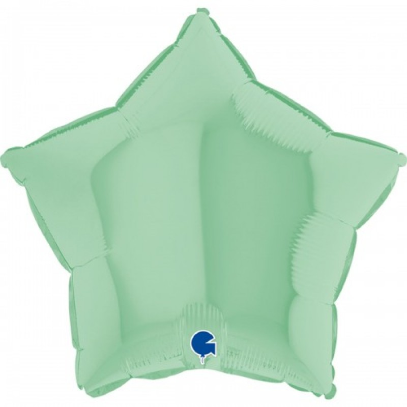 Шар с гелием звезда макарун мятный matte green 45см