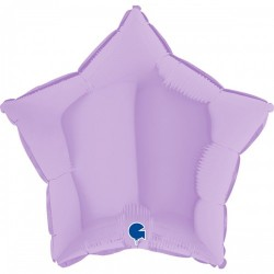 Шар с гелием звезда макарун иловый matte lilac 45см