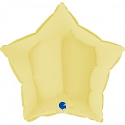 Шар с гелием звезда макарун желтый matte yellow 45см