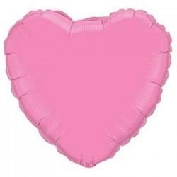 Шар с гелием СЕРДЦЕ пастель розовое 80см