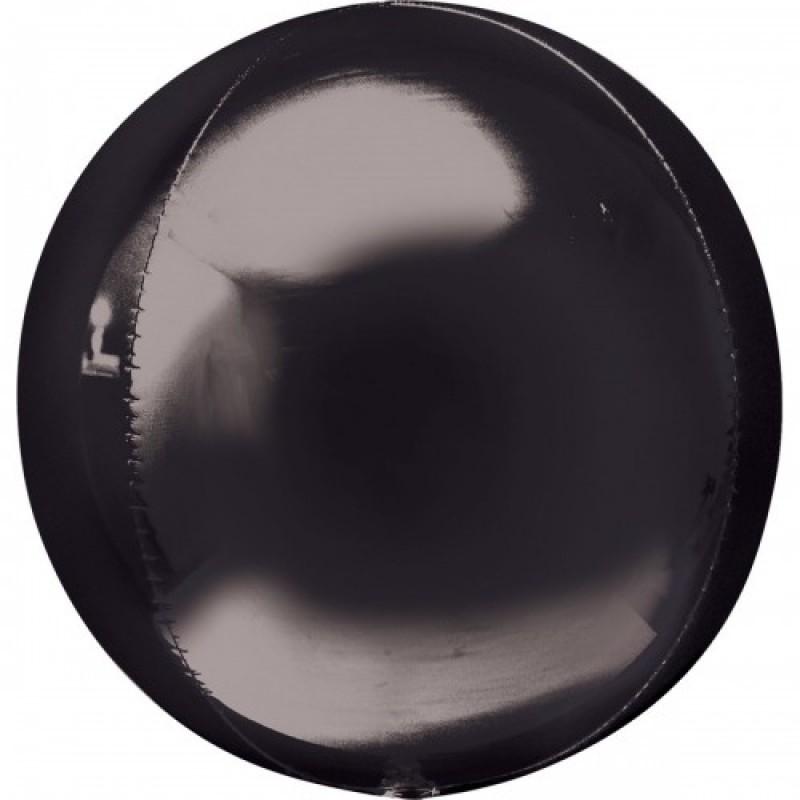 Шар с гелием 3d сфера б/рис (56см) черная