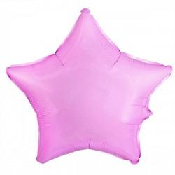 Шар с гелием ЗВЕЗДА пастель розовая 80см